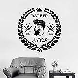 yaonuli Calcomanías de peluquería para Hombres, calcomanías con Logotipo, Pintura Decorativa, calcomanías de Pared, peluquería, calcomanías de Pared personalizadas50X51cm