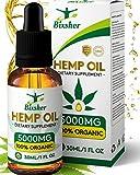 Gotas de aceite de semilla de cáñamo | Ayuda para dormir natural | para aliviar el dolor, la ansiedad y el estrés Ingredientes 100% naturales ricos en omega 3-6-9 y vitaminas (Puro orgánico)