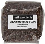 JustIngredients Essential Semillas de Mostaza Negra/Marrón 250 gr