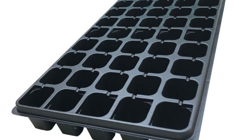 Semillero de cebollas de plástico negro