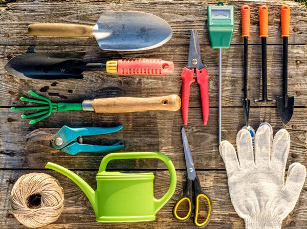 herramientas para el jardín